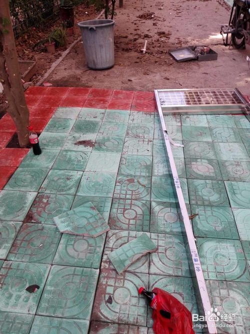 户外绿化人行道水泥砖铺装