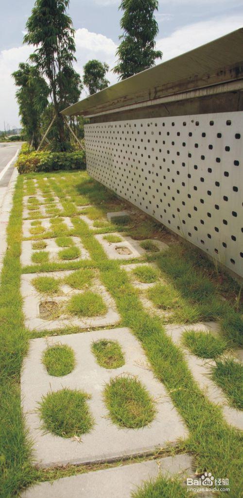 井字植草砖铺设